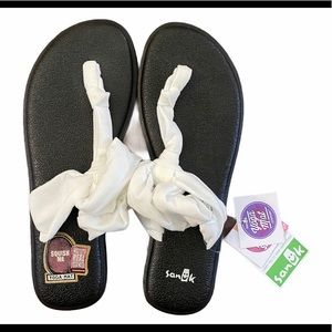 Sanuk Ella Yoga Sling Sandals White